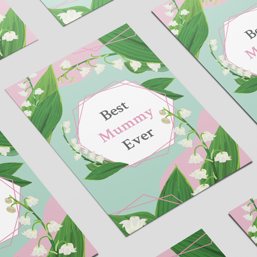 Best Mummy Ever Pastel Mother's Day A3 Poster PVC Party Sign Decoration 42cm x 30cm Product Image
