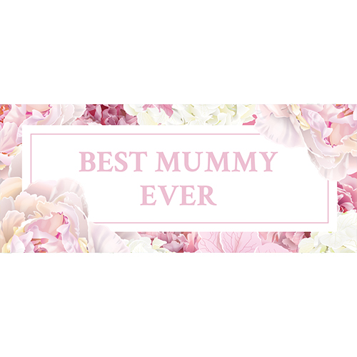 Best Mummy Ever Pastel Mother's Day PVC Party Sign Decoration 60cm x 25cm Product Image