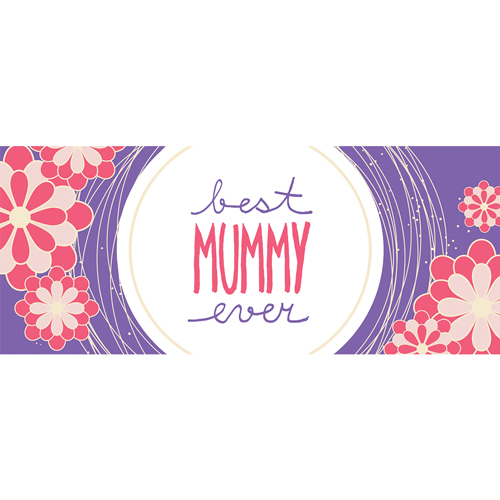 Best Mummy Ever Purple Mother's Day PVC Party Sign Decoration 60cm x 25cm Product Image