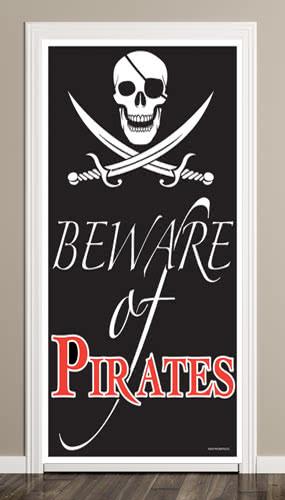 Beware of Pirate Door Cover Product Image