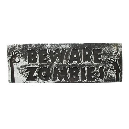Beware Zombies Halloween Wall Plaque Hanging Decoration 48cm