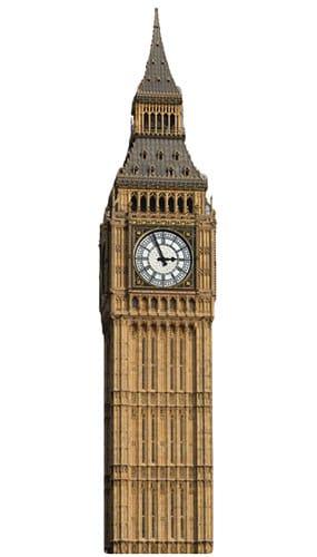 Big Ben Lifesize Cardboard Cutout - 189cm Product Image