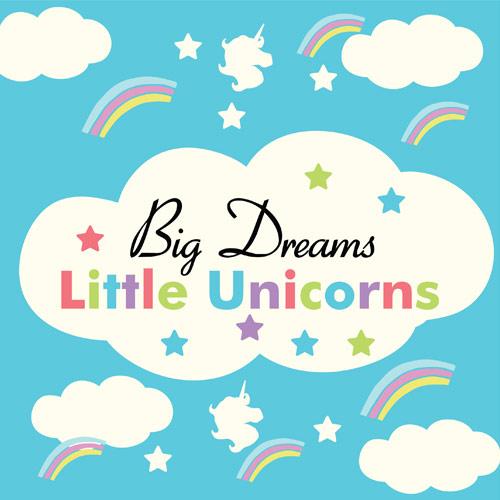 Big Dreams Little Unicorns PVC Party Sign Decoration 20cm x 20cm Product Image