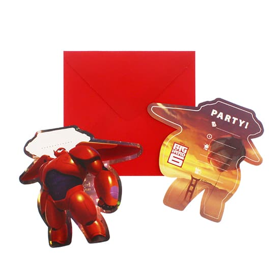 Big Hero 6 Invitations with Envelopes - Pack of 6