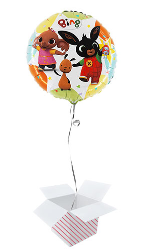 Bing and Friends Round Foil Helium Balloon - Inflated Balloon in a Box Product Image
