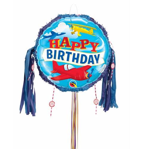Birthday Airplanes Pull String Pinata Product Image