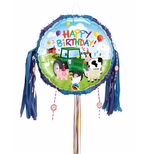 Birthday Barnyard Pull String Pinata