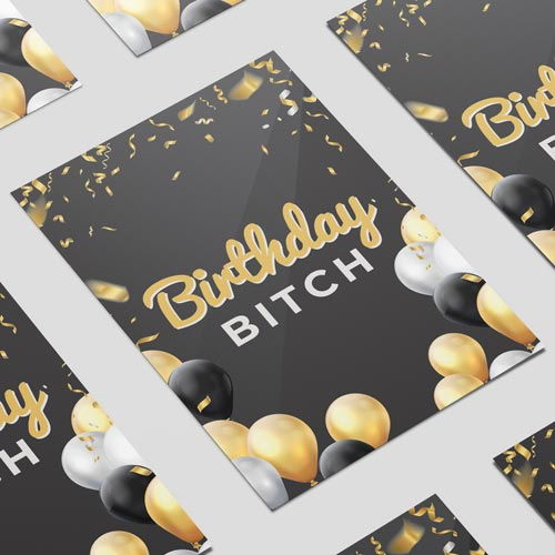 Birthday Bitch Adult A3 Poster PVC Party Sign Decoration 42cm x 30cm Product Image