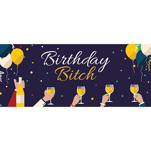Birthday Bitch Adult PVC Party Sign Decoration 60cm x 25cm Product Image
