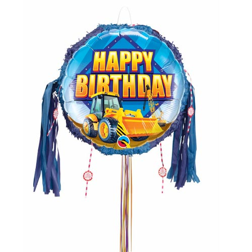 Birthday Construction Zone Pull String Pinata Product Image
