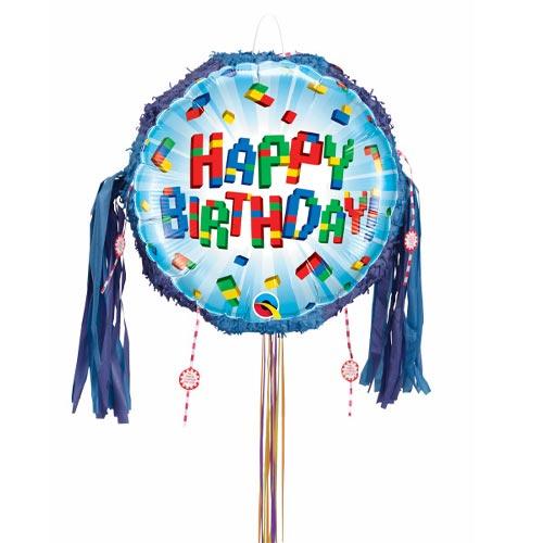 Birthday Exploding Blocks Pull String Pinata Product Image