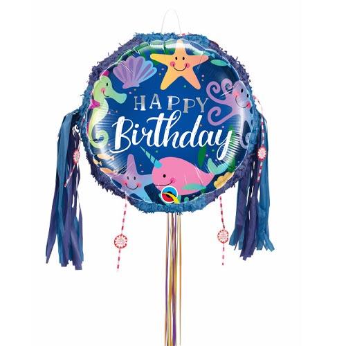 Birthday Fun Under The Sea Pull String Pinata Product Image