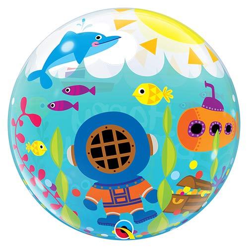 Birthday Maritime Fun Bubble Helium Qualatex Balloon 56cm / 22 in Product Gallery Image