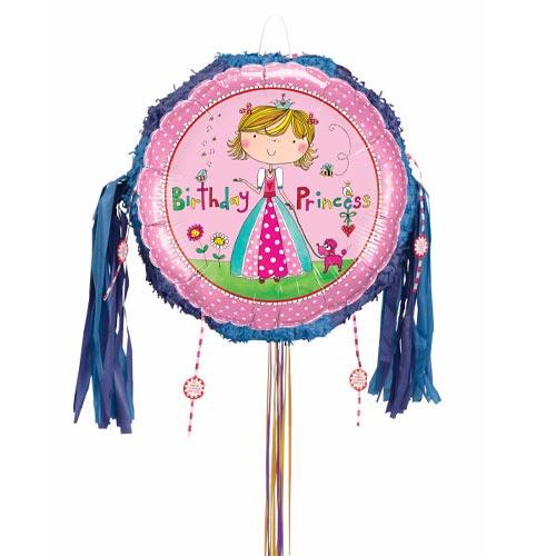 Birthday Princess Pink Pull String Pinata Product Image