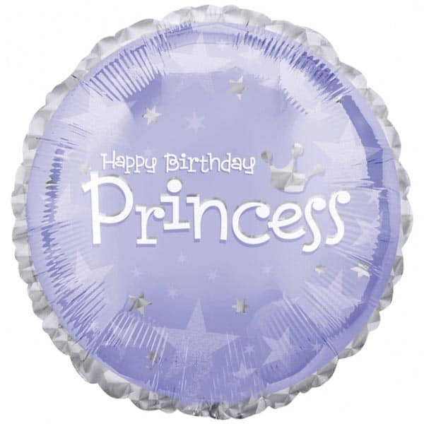 Birthday Princess Foil Helium Balloon 46cm / 18Inch Product Image