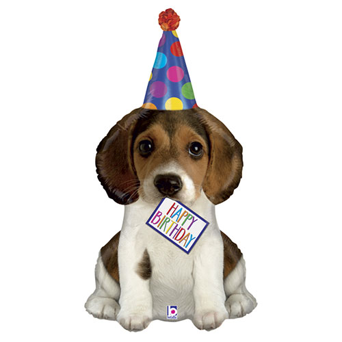 Birthday Puppy Helium Foil Giant Balloon 104cm / 41 in