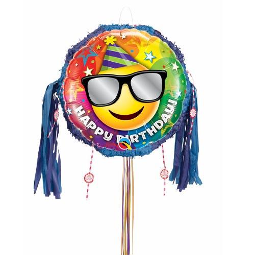 Birthday Smiley Pull String Pinata Product Image