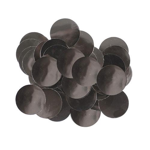 Black 10mm Round Foil Table Confetti 50g