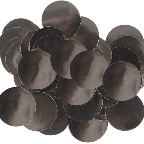 Black 25mm Giant Round Foil Table Confetti 50g