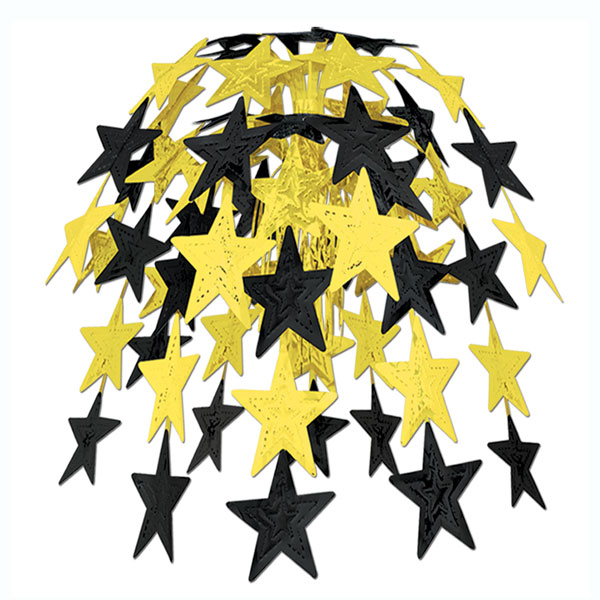 Black and Gold Star Cascade - 24 Inches / 61cm