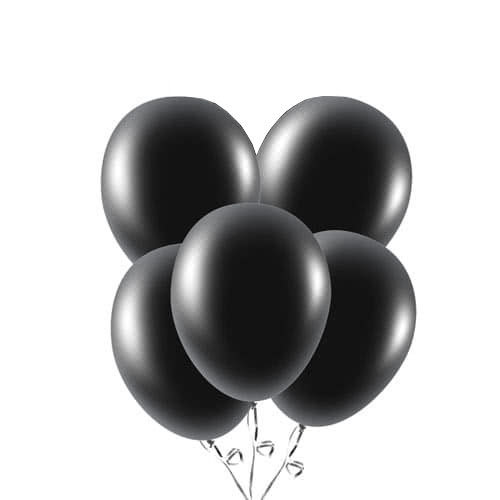 Black Biodegradable Latex Balloons 23cm / 9 in - Pack of 20 Product Image