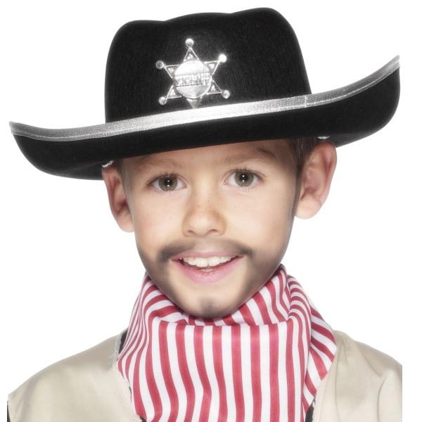 Black Felt Childrens Sheriff Hat