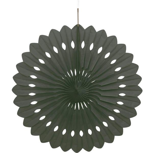 Black Hanging Decorative Honeycomb Fan 40cm
