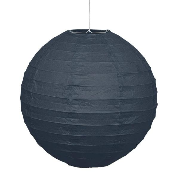 Black Hanging Round Paper Lantern 25cm