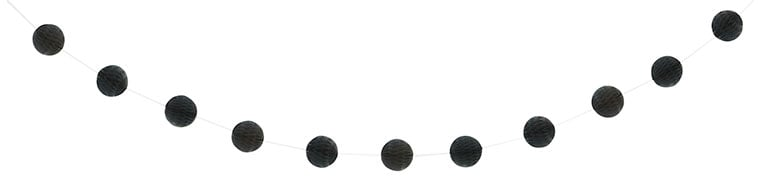 Black Honeycomb Ball Garland - 213cm Product Image