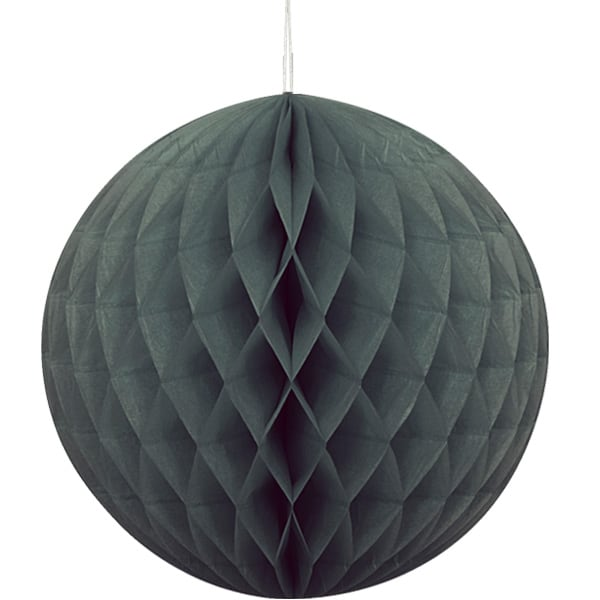 Black Honeycomb Hanging Decoration Ball 20cm Product Image