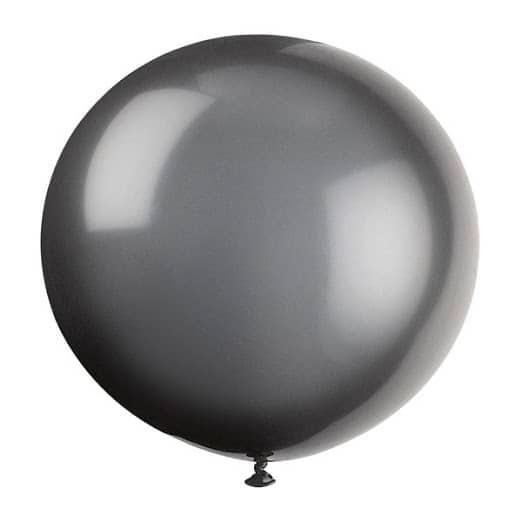 Black Jumbo Biodegradable Latex Balloon - 91cm Product Image