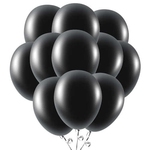Black Latex Balloons 23cm / 9Inch - Pack of 50 Product Image