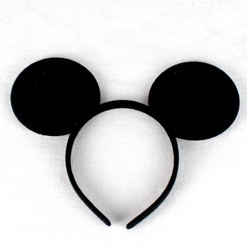 Black Mouse Ears Headband