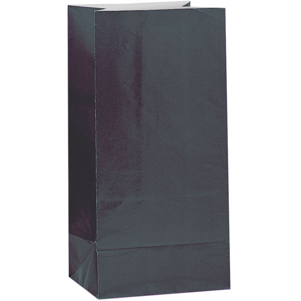 Black Paper Party Bag - Pack of 12
