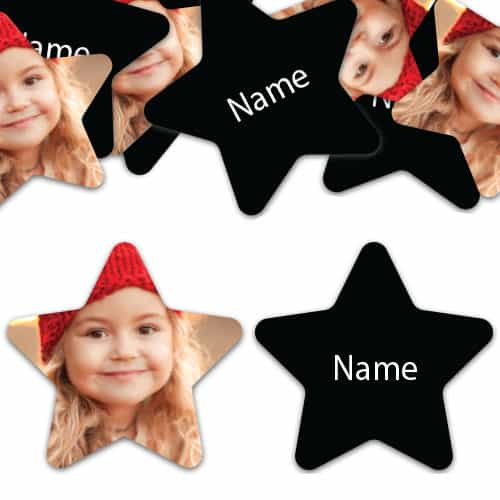 STAR Shape - Black Personalised Confetti - Pack of 50