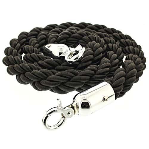 Black Braided Rope with Chrome Hooks Product Image