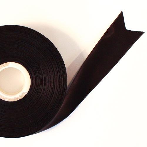Black Satin Faced Ribbon Reel 38mm x 50m Product Image