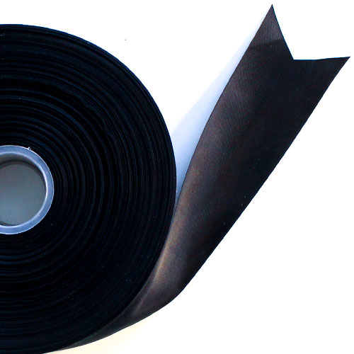 Black Satin Faced Ribbon Reel 45mm x 91m Product Image