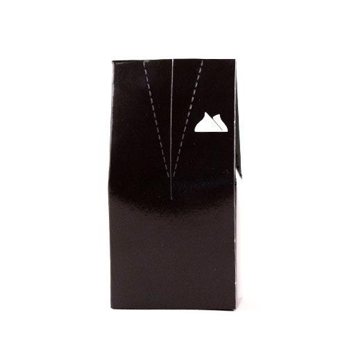 Black Tuxedo with White Handkerchief Favour Box