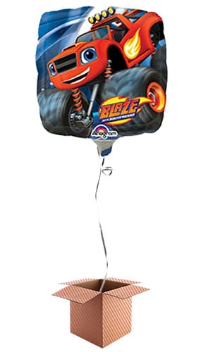 Blaze Square Foil Balloon - Inflated Balloon in a Box Product Image