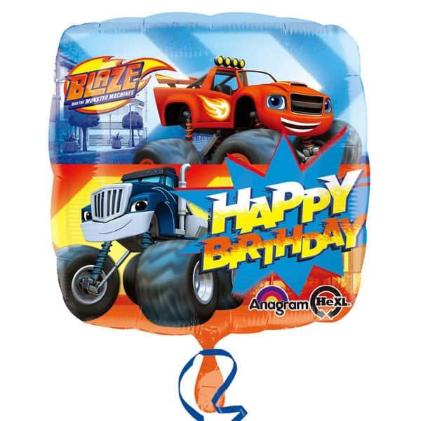 Blaze Happy Birthday Square Foil Helium Balloon 46cm / 18Inch Product Image