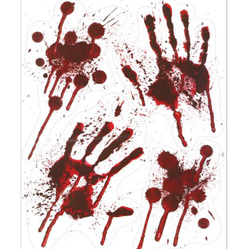 Bloody Hands Stickers Halloween Window Decorations Product Image