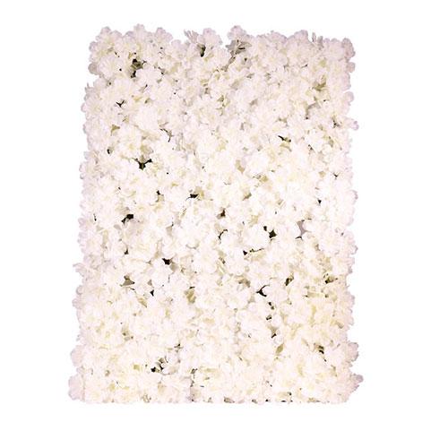 Blossom White Artificial Hydrangea Silk Flower Wall Panel 60cm x 40cm Product Image