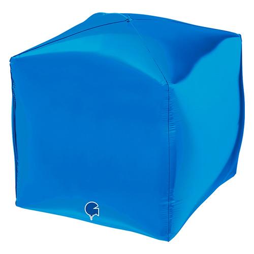 Blue 4D Square Shape Foil Helium Balloon 38cm / 15 in