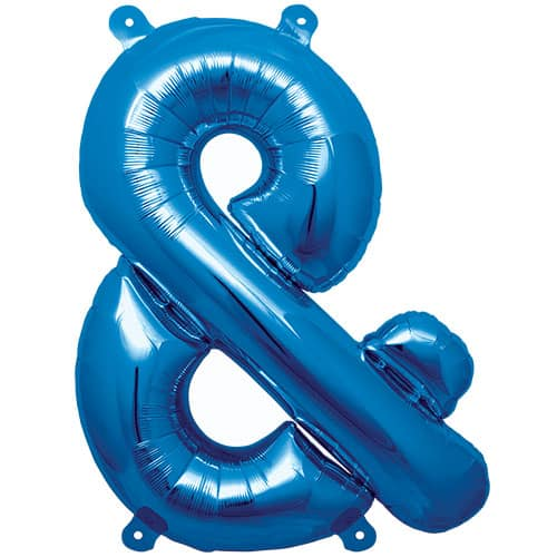 Blue Ampersand Air Fill Foil Balloon 41cm / 16Inch Product Image