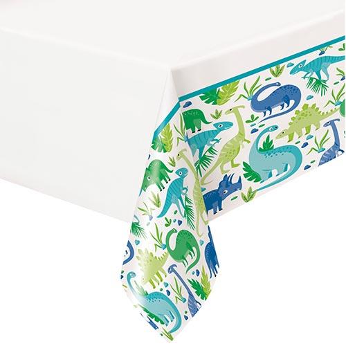 Blue & Green Dinosaur Plastic Tablecover 213cm x 137cm Bundle Product Image