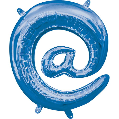 Blue At Symbol Air-Filled Foil Balloon 40cm / 16Inch Product Image