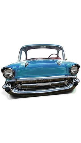 Blue Cadillac Car Child Size Lifesize Cardboard Cutout - 105cm Product Image