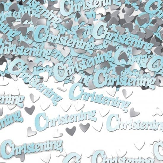 Blue Christening Table Confetti – 14 Grams