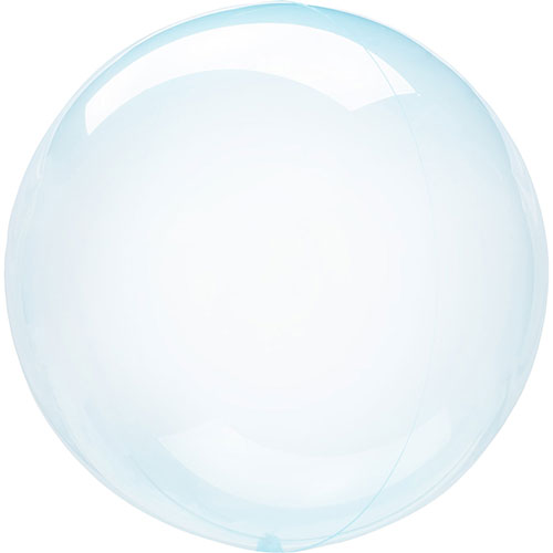 Blue Crystal Clearz Bubble Helium Balloon 46cm / 18 in Product Image